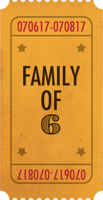 Ticket for Family of 6